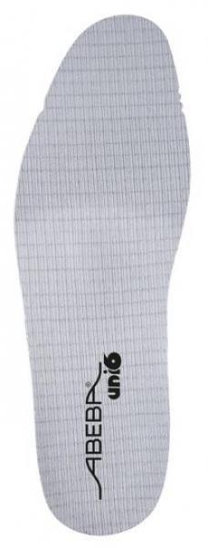 ABEBA-Schuh-Zubehör, Uni6-Einlegesohlen, Soft Comfort, mittel, für Sicherheitsschuhe Uni6, grau