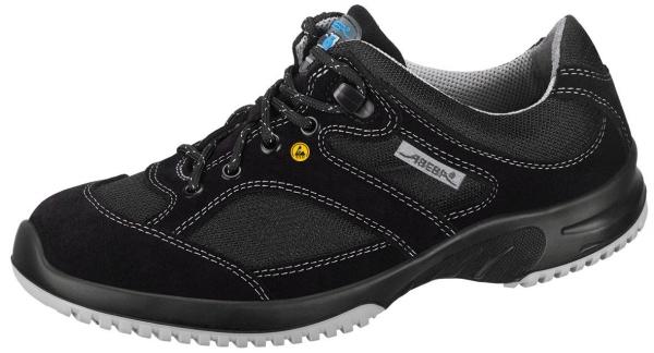 ABEBA-Uni6-O1-Damen- und Herren-Arbeits-Berufs-Schuhe, ESD, schwarz