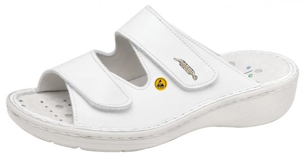 ABEBA-Reflexor-OB-Damen-Arbeits-Berufs-Pantolette, weiß