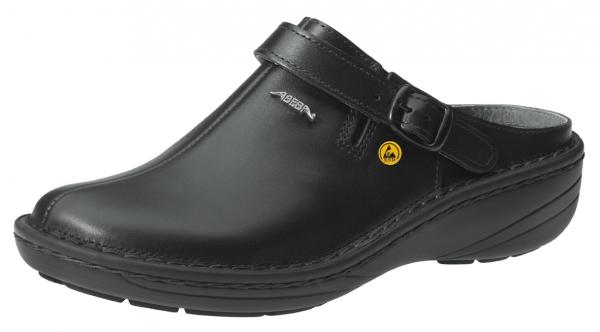ABEBA-Reflexor-OB-Damen-Sicherheits-Arbeits-Berufs-Clogs, schwarz