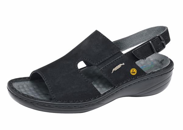 ABEBA-Reflexor-OB-Damen-Sicherheits-Arbeits-Berufs-Sandalen, schwarz