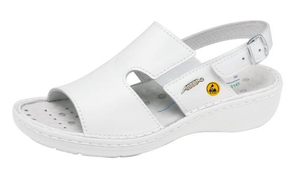 ABEBA-Reflexor-OB-Damen-Sicherheits-Arbeits-Berufs-Sandalen, weiß