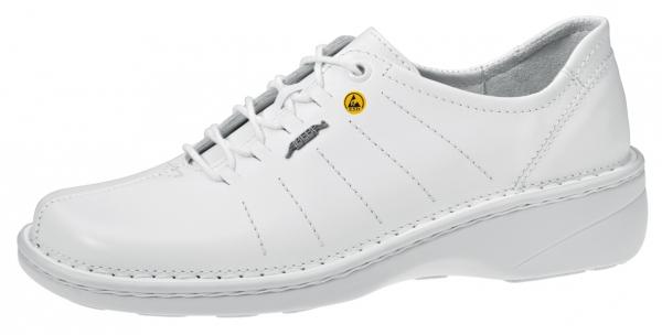 ABEBA-Reflexor-OB-DamenSicherheits-Arbeits-Berufs-Schuhe, Halbschuhe, weiß