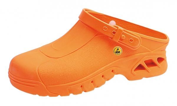 ABEBA-Damen- und Herren-Sicherheits-Arbeits-Berufs-Clogs, orange