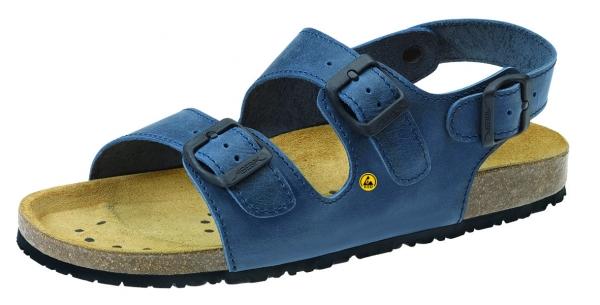 ABEBA-Nature-OB-Damen- u. Herren-Arbeits-Berufs-Sandalette, ESD, blau