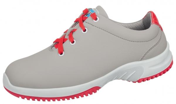 ABEBA-Uni6-O2-Damen- und Herren-Arbeits-Berufs-Schuhe, grau/rot