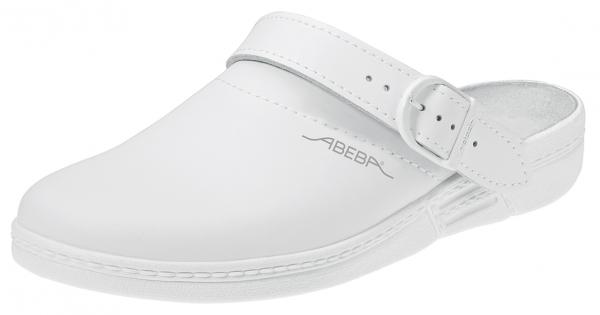 ABEBA-The-Original-OB-Damen- u. Herren-Arbeits-Berufs-Clogs,  weiß