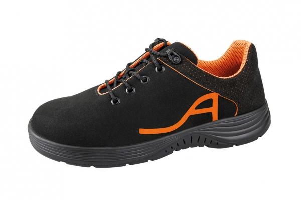 ABEBA-X-LIGHT-S1-Damen-und Herrensicherheitsschuhe, schwarz/orange