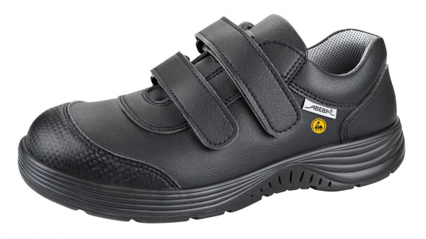 ABEBA-X-LIGHT-O2-Damen-und Herrenklettschuhe, ESD, schwarz
