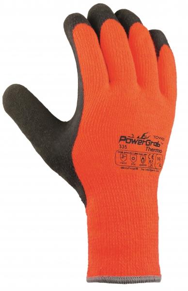 BIG-TEXXOR-Rindkern-Spaltleder-Arbeits-Handschuhe, Rhön, natur, weißer Drell