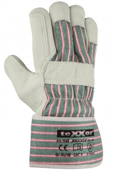 BIG-TEXXOR-Rindvoll-Leder-Arbeits-Handschuhe, Brocken, natur