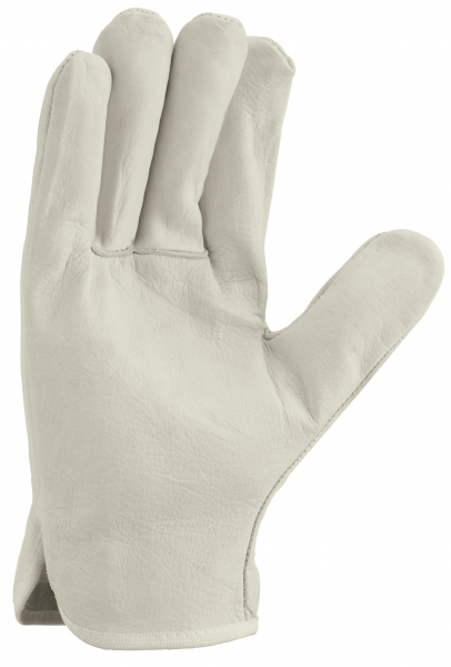 BIG-TEXXOR-Rind-Nappa-Leder-Fahrer-Arbeits-Handschuhe, natur