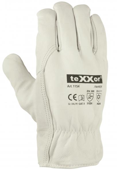 BIG-Rindnappaleder-Fahrer-Arbeits-Handschuhe, Fahrer Winter, natur