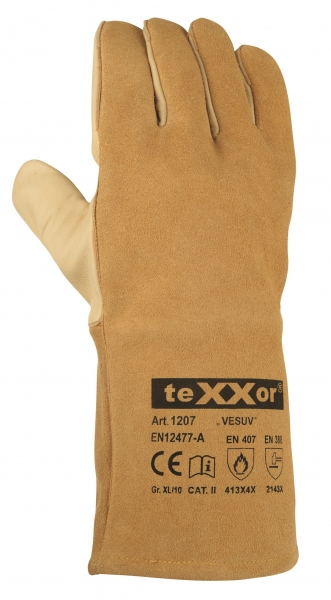 BIG-TEXXOR-Rindvoll-/Spaltleder-Arbeits-Handschuhe, Vesuv, beige