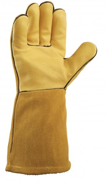 BIG-TEXXOR-Rindvoll-/Spaltleder-Arbeits-Handschuhe, Fudschijama, gelb