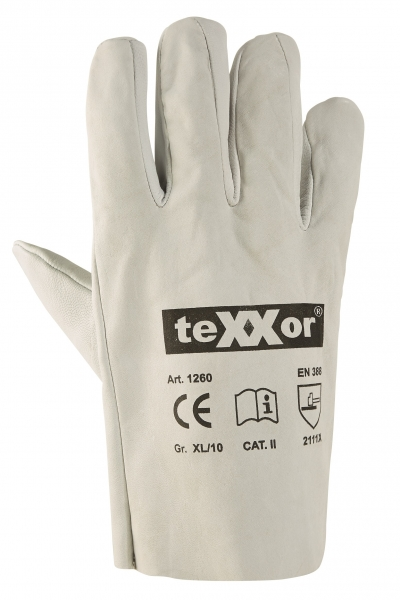 BIG-TEXXOR-Ziegen- / Schafs-Vollnappa-Leder-Arbeits-Handschuhe, natur