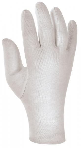 BIG-Baumwoll-Trikot-Arbeits-Handschuhe, weiß gebleicht