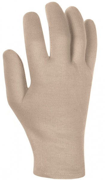 BIG-Baumwoll-Trikot-Arbeits-Handschuhe, rohweiß