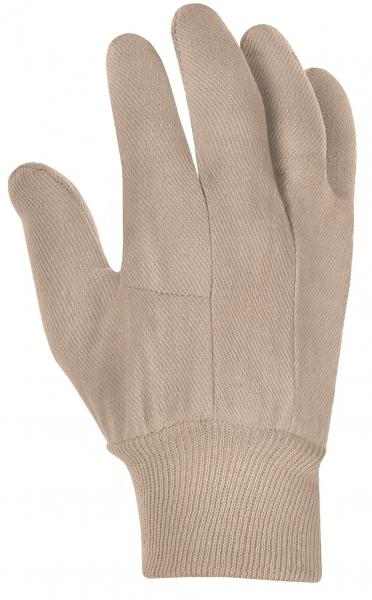 BIG-Baumwoll-Köper-Arbeits-Handschuhe, rohweiß