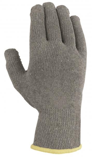 BIG-TEXXOR-Baumwoll-/Polyester-Mittelstrick-Arbeits-Handschuhe, grau, rote Noppen