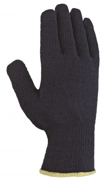BIG-TEXXOR-Baumwoll-/Polyester-Mittelstrick-Arbeits-Handschuhe, blau, blaue Noppen