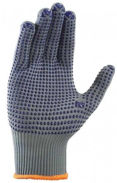 BIG-TEXXOR-Nylon-Feinstrick-Arbeits-Handschuhe, grau, blaue Noppen
