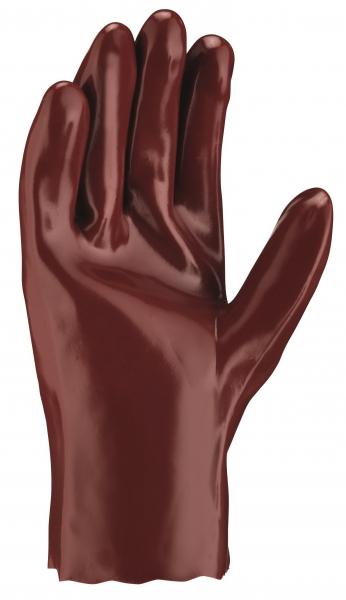 BIG-TEXXOR-Chemikalien-Schutz-Arbeits-Handschuhe, 27 cm, rotbraun
