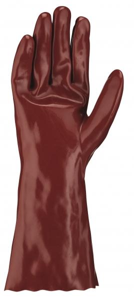 BIG-TEXXOR-Chemikalien-Schutz-Arbeits-Handschuhe,35 cm, rotbraun