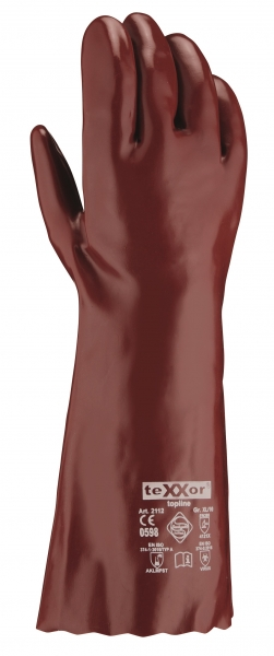 BIG-TEXXOR--Chemikalien-Schutz-Arbeits-Handschuhe, 40 cm, rotbraun