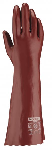 BIG-TEXXOR-Chemikalien-Schutz-Arbeits-Handschuhe, 45 cm, rotbraun