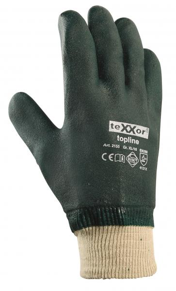 BIG-TEXXOR-PVC-Arbeits-Handschuhe, grün