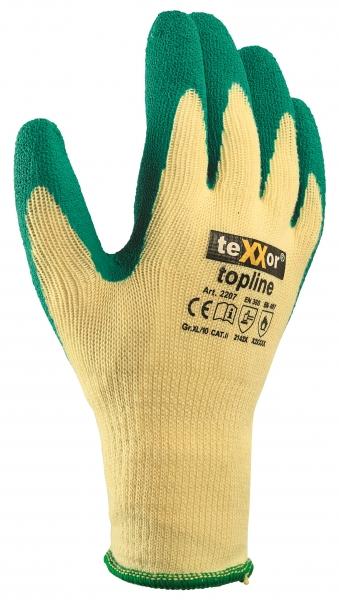 BIG-TEXXOR-Baumwoll-/Polyester-Grobstrick-Arbeits-Handschuhe, grün