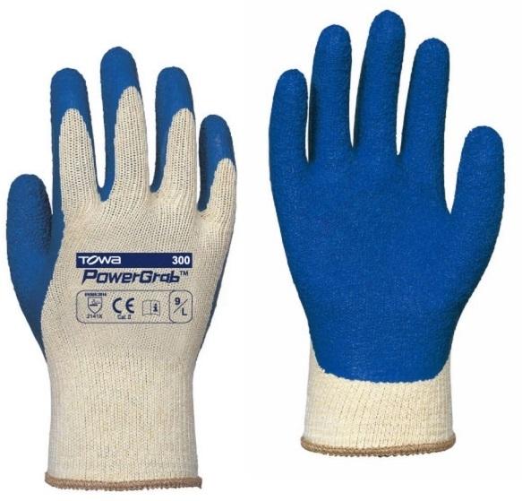 BIG-TOWA-Polyester-Strick-Arbeits-Handschuhe, PowerGrab, blau