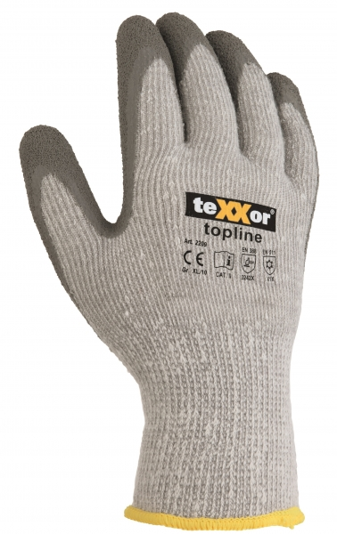 BIG-TEXXOR-Polyester-Strick-Arbeits-Handschuhe, Winter Grip, grau