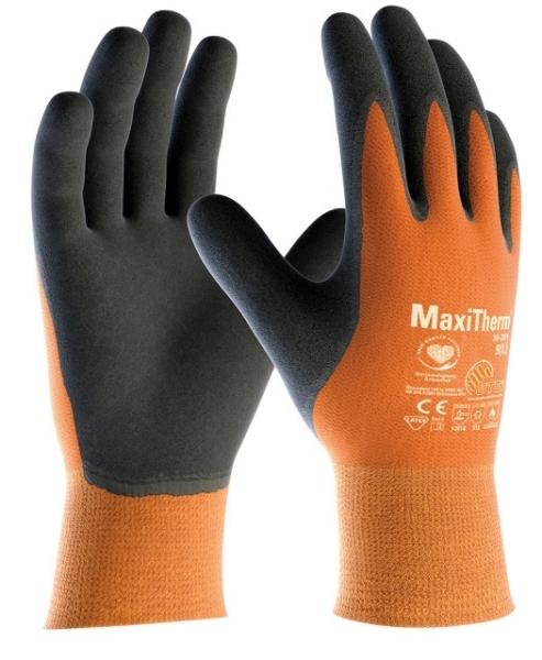 BIG-ATG-Acryl-Polyester-Grobstrick-Arbeits-Handschuhe,, MaxiTherm, orange/schwarz