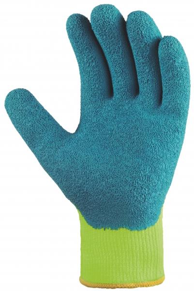 BIG-TEXXOR-Acryl-Winter-Arbeits-Handschuhe, gelb/blau