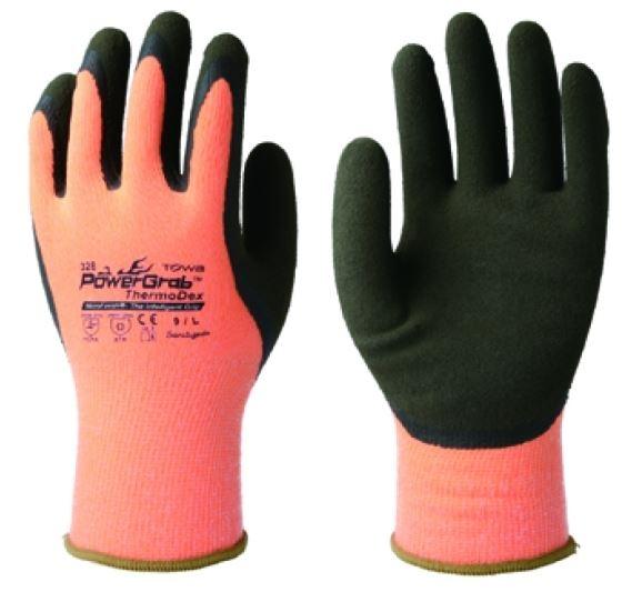 BIG-TOWA-Winterhandschuhe PowerGrab® Thermodex, orange/schwarz