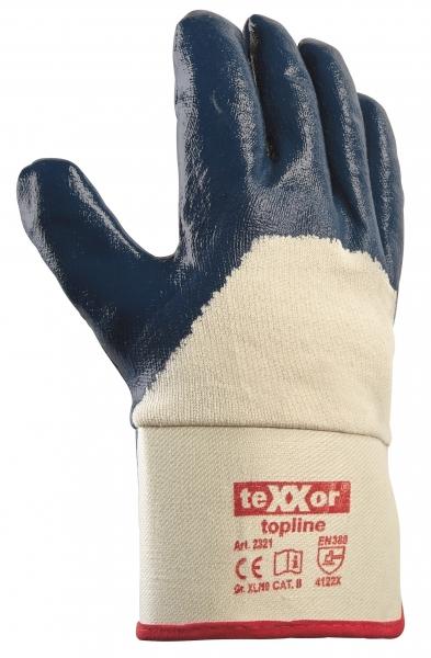 BIG-TEXXOR-Nitril-Arbeits-Handschuhe, beige/blau