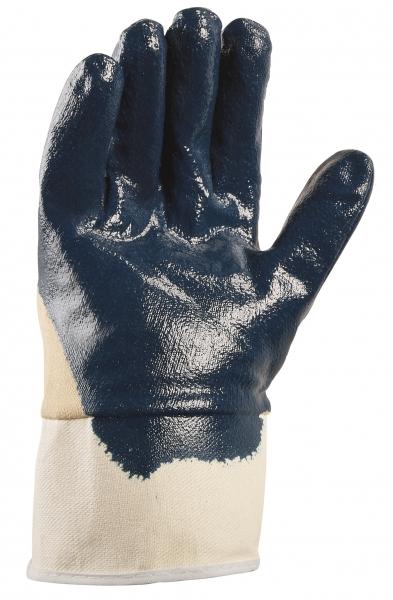 BIG-TEXXOR-Nitril-Arbeits-Handschuhe, Stulpe, beige/blau