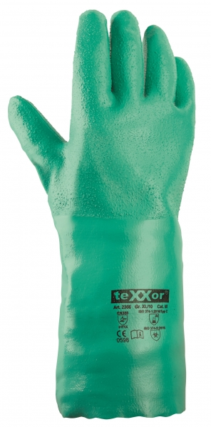 BIG-TEXXOR-Nitril-Arbeits-Handschuhe, grün