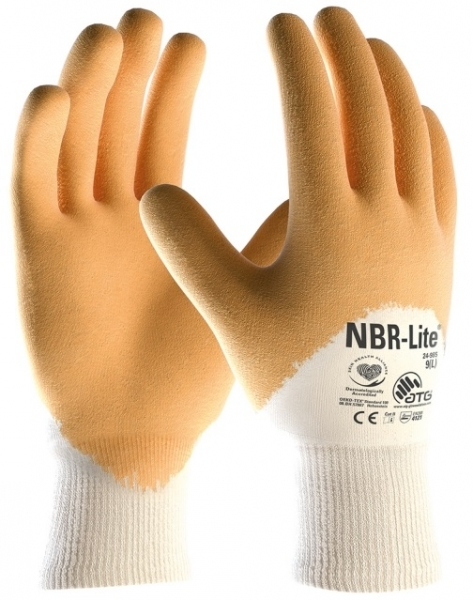 BIG-ATG-Nitril-Arbeits-Handschuhe, NBR-Lite, beige/gelb
