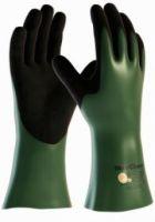 BIG-ATG-Nitril--Chemikalien-Schutz-Arbeits-Handschuhe,MaxiChem CUT, grün/schwarz