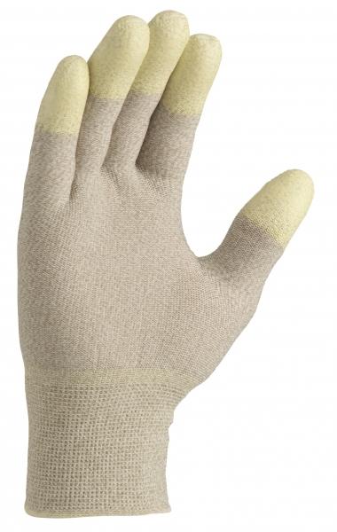 BIG-TEXXOR-ESD Nylon-/Kupfer-Strick-Arbeits-Handschuhe, natur/weiß