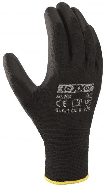 BIG-TEXXOR-Polyester-Strick--Arbeits-Handschuhe, schwarz
