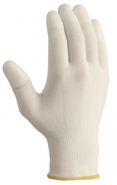 BIG-TEXXOR-Polyester-Strick-Arbeits-Handschuhe, weiß