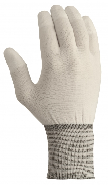 BIG-TEXXOR-Nylon-Strick-Arbeits-Handschuhe, weiß