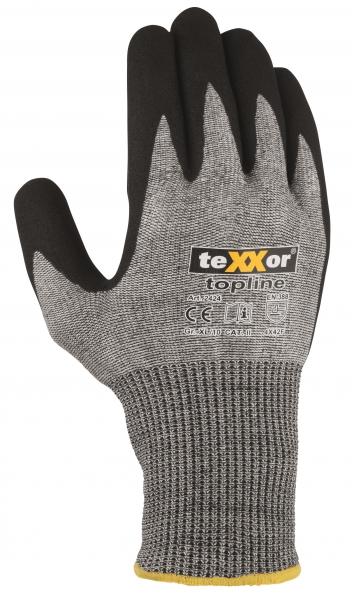 BIG-TEXXOR-Schnittschutz-Strick-Arbeits-Handschuhe, nahtlos, grau/schwarz