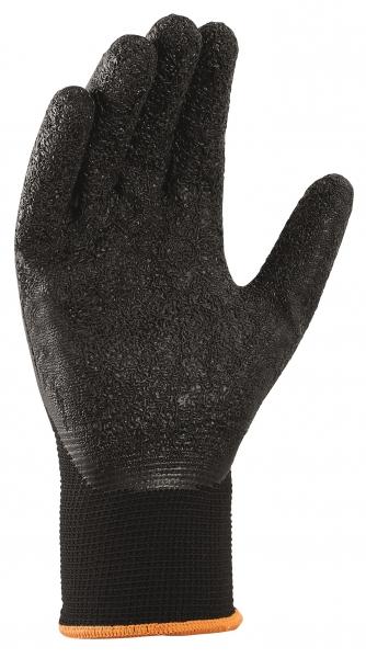 BIG-TEXXOR-Polyester-Strick-Arbeits-Handschuhe, schwarz/schwarz