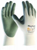 BIG-ATG-Nylon-Strick-Arbeits-Montage-Handschuhe, MaxiFoam XCL, weiß/grau