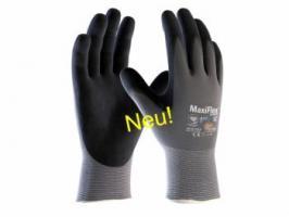 BIG-ATG-Nylon-Strick-Arbeits-Montage-Handschuhe, MaxiFlex Ultimate AD-APT, grau/schwarz